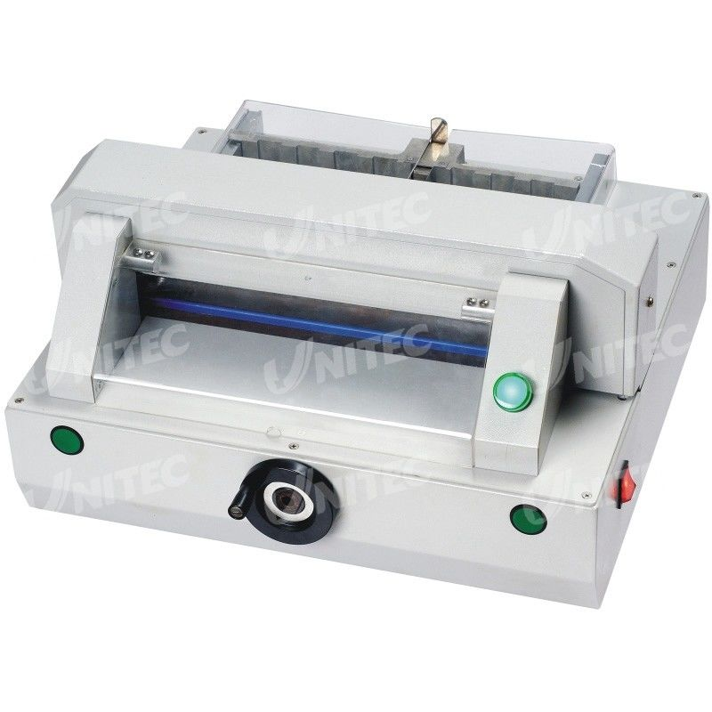 Compact Automatic Table Top Paper Cutting Machine 320mm Table Depth HD-QZ320