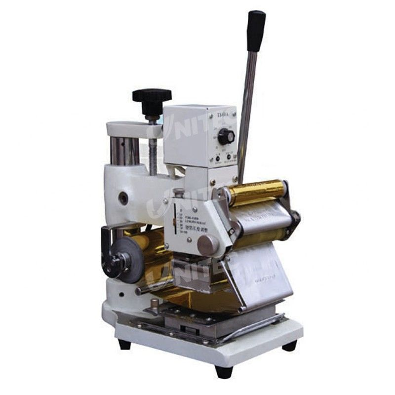 Adjustable Manual Roller Hot Stamping Machine 400mm Thickness